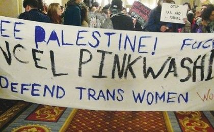 Protesters at an LGBTQ conference in Chicago accused Israel of obscuring its treatment of Palestinians by touting its record on gay rights.