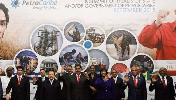 Leaders from Petro Caribe member nations meet in 2015.