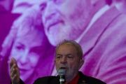 Lula speaking at the Worker's Party 6th National Congress.