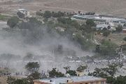 Smoke rises from the site of a suicide attack after a blast in Kabul, Afghanistan, on June 3, 2017.