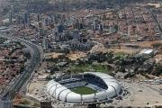 An aerial view shows the Arena das Dunas stadium, which will host matches for the 2014 soccer World Cup, in Natal.