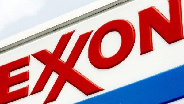 Exxon logo.