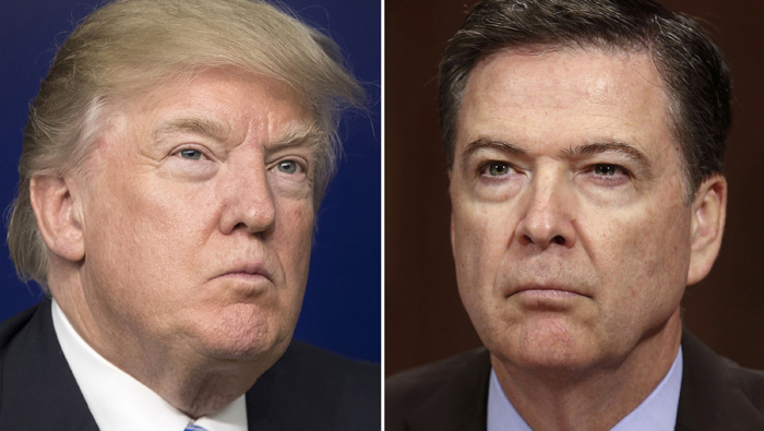 El exdirector del FBI, James Comey, afirmó que Trump