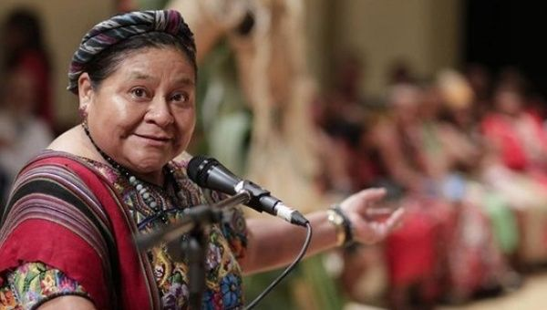 Menchu won the Nobel Peace Prize for her work in defense of Indigenous rights in Guatemala.