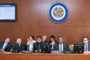 Bolivian authorities discuss the detentions at the OAS