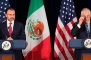 Mexican Foreign Minister Luis Videgaray and U.S. Secretary of State Rex Tillerson in Washington, D.C., on May 18.
