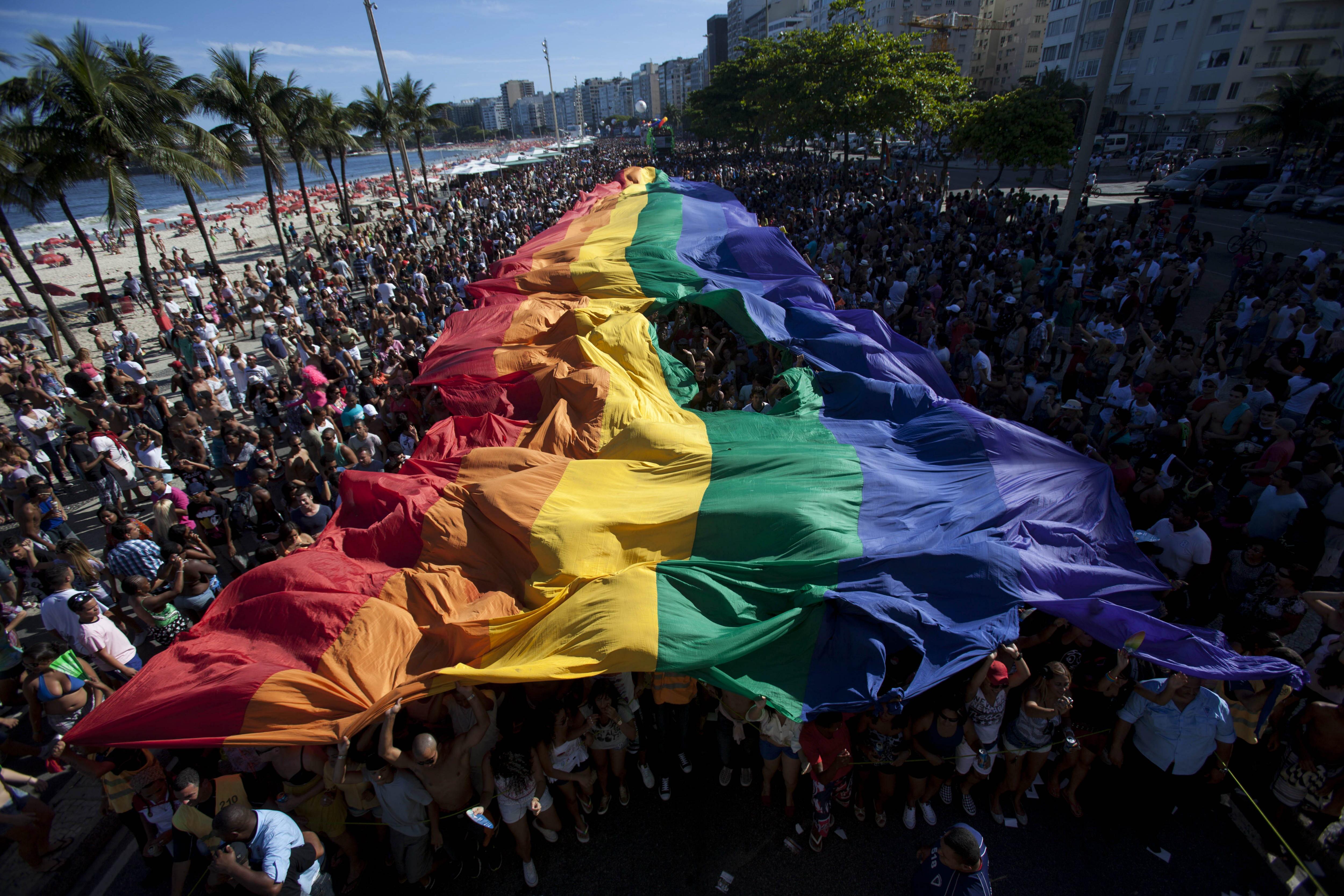 Brasil se prepara para la marcha del orgullo gay