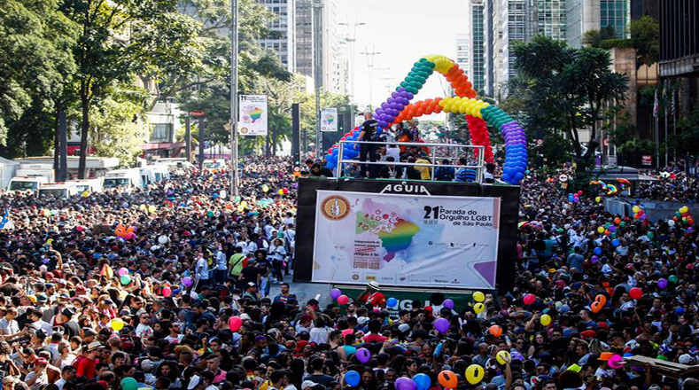The biggest Pride parade in the world, Sao Paulo has drawn up to four million people in 2009.