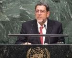 Saint Vincent and Grenadines Prime Minister Ralph Gonsalves at the U.N. General Assembly.