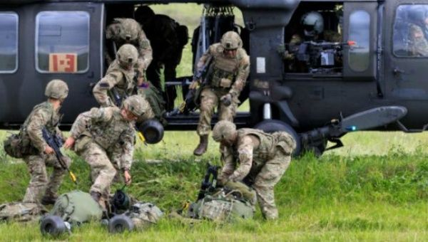 The coalition troops, for the first time, rehearsed for a possible combat scenario at the Suwalki Gap.