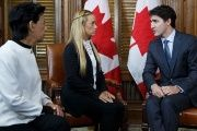 Trudeau meets with right-wing Venezuelan opposition activist Lilian Tintori.