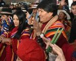 Bolivian President Evo Morales joins a ceremony marking the Aymara new year in Orinoca, June 21, 2017.