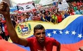Venezuelan march in support of the Chavista government.