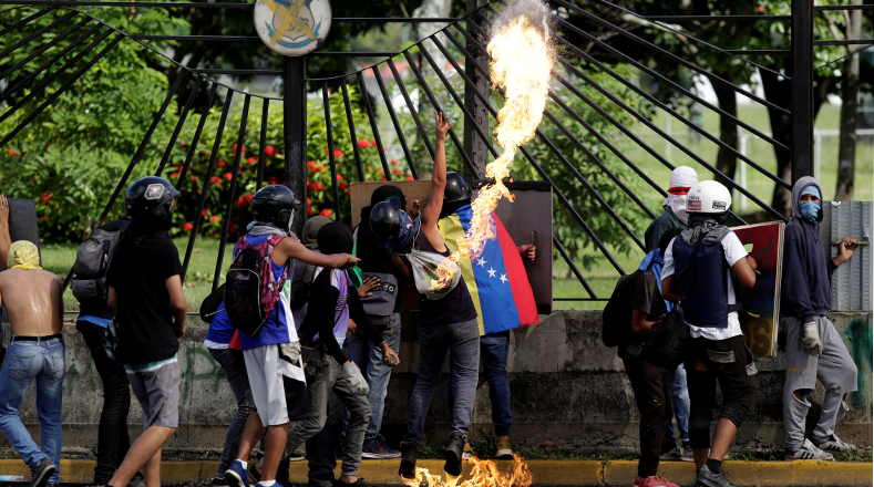 Venezuela m s de 10 ataques de la oposici n a base for Ministerio de relaciones interiores y justicia