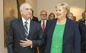 Brazilian President Michel Temer meets with Norway