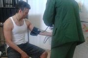Leopoldo Lopez receiving a routine medical check-up.
