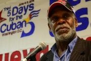 Danny Glover speaking at a rally in support of the