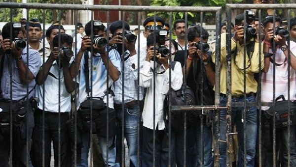 Journalists in India.
