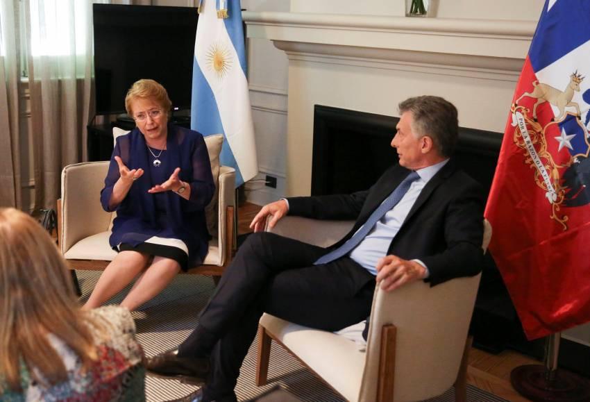 Mauricio Macri y Michelle Bachelet durante un encuentro en diciembre de 2016.