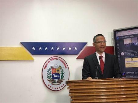 Ernesto Villegas, ministro para Comunicación e Información de Venezuela, dio a conocer el comunicado.