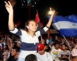 Supporters of Nicaragua's President Daniel Ortega flock to the streets of the capital to celebrate his victory.