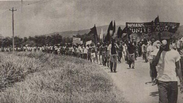 Thousands converged on Port-of-Spain to protest, Trinidad and Tobago, 1970.