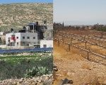 The village of Jubbet al-Dhib before and after the confiscation of its solar panel mounts.