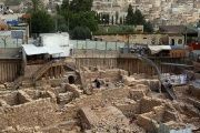 Israeli authorities excavating near the walls of Jerusalem's Old City.
