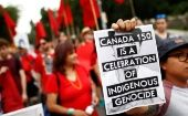 Indigenous-led protests rocked Canada Day this year, resisting colonization and indigenous genocide.
