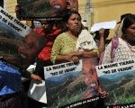 Indigenous women protest Canadian mining companies in Guatemala.