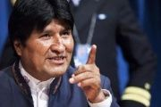 Bolivia's President Evo Morales at UN headquarters in New York, February 20, 2013.