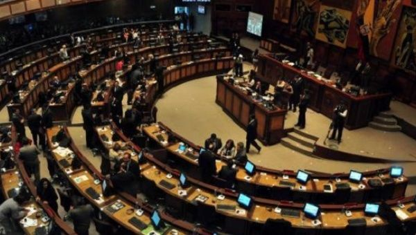 The National Assembly in Ecuador approved the