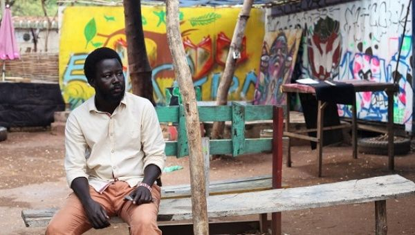 Jacob Bul Bior, 28, a radio and theatre actor, and a founding member of Ana Taban, poses for a photograph at the Aggrey Jaden Cultural Centre & Cinema, in Juba, South Sudan.