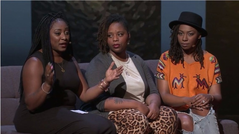 The Founders of Black Lives Matter Alicia Garza, Patrisse Cullors and Opal Tometi talking about the movement they founded at a Ted Women conference in 2016
