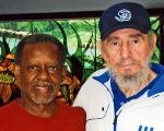 Pastors for Peace founder, Reverend Lucius Walker (L) with Cuban Leader Fidel Castro (R).