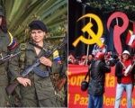 Members of the Revolutionary Armed Forces of Colombia (L) and the Communist Party of Colombia (R).