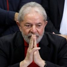 Former Brazilian President Luiz Inacio Lula da Silva attends a news conference after being convicted on corruption charges, in Sao Paulo, Brazil, July 13, 2017.