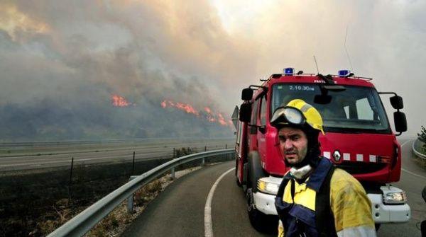 Los incendios forestales han afectado el transito de trenes y carros en el este de Francia