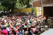 Polling station in Venezuela for dry run vote in upcoming Constituent Assembly.