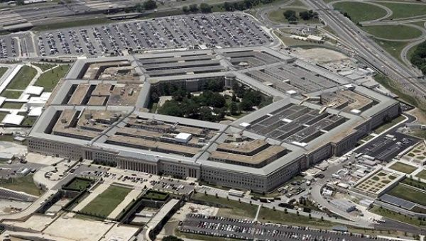 Aerial view of the Pentagon in Washington D.C., the seat of military power in the United States.