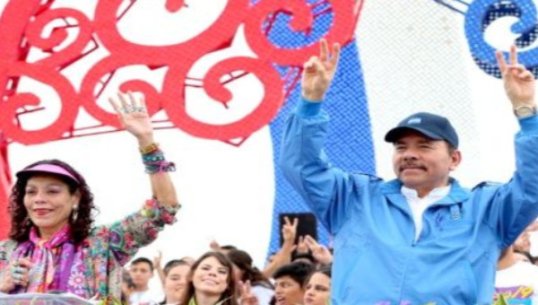 Nicaraguan Vice President Rosario Murillo and her husband President Daniel Ortega host the 38th Sandinista Revolution celebrations in Managua, Nicaragua, July 19, 2017