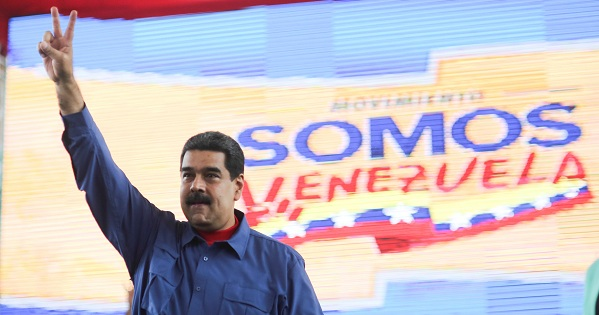 Venezuela's President Nicolas Maduro gestures as he arrives for an event with supporters in Caracas, Venezuela, on July 20, 2017.