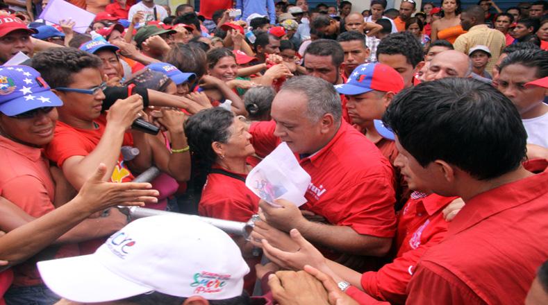 """""""Al pueblo venezolano le pertenece la convocatoria a la Asamblea Nacional Constituyente, cuyos comicios se realizarán el 30 de julio"""", ratificó el primer vicepresidente del Partido Socialista Unido de Venezuela (PSUV), Diosdado Cabello."""