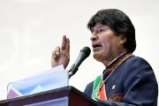 Bolivia's President Evo Morales speaks during a ceremony in La Paz, Bolivia, on July 15, 2017.