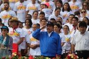 Nicaragua's President Daniel Ortega reaffirmed his support for Venezuela at last week's 38th anniversary of the Sandinista Revolution.