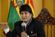 Bolivia's President Evo Morales speaks during a news conference at the presidential palace in La Paz, Bolivia, July 26, 2017.