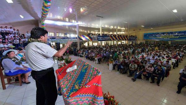 Es tiempo de luchar por la soberanía de los pueblos, asegura Evo Morales