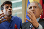 Venezuela right-wing opposition leaders Leopoldo Lopez and Antonio Ledezma.
