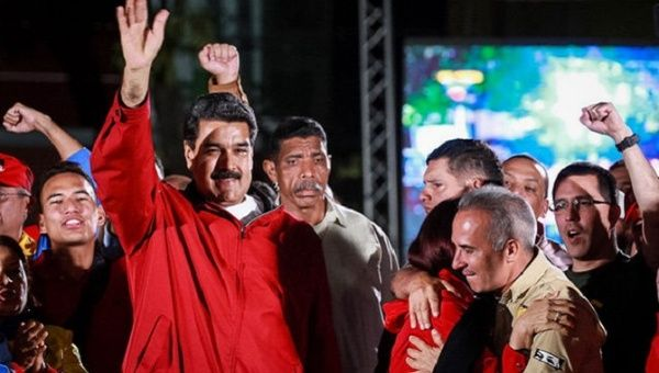 President Maduro celebrates the results of the National Constituent Assembly.