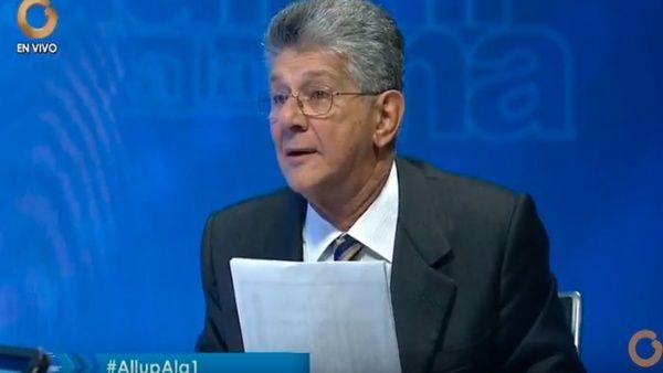 """El titular del partido AD rechazó la """"estrategia de no participación"""" impulsada por la MUD."""